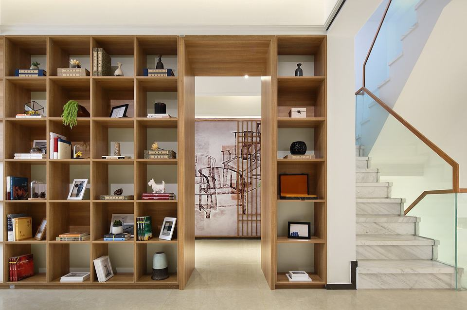 millwork and book shelves